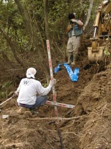 胎金寺野営場水道管工事