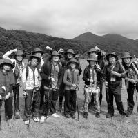 蒜山高原で集合写真