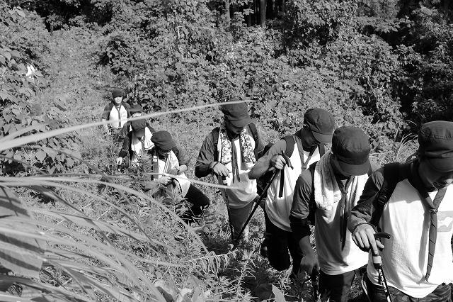 5.険しい山道を経て頂上を目指す