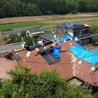 山西教会 信徒M氏宅 屋根の補修
