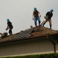 松橋教会 会館屋根の採寸、基礎ブロック補強作業の事前確認
